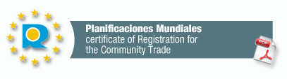 Certificate of registration for the community trade